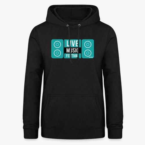 Amo la música - Sudadera con capucha para mujer