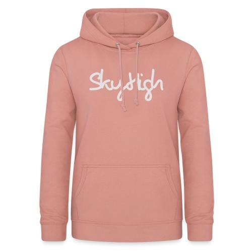 SkyHigh - Women's Hoodie - Gray Lettering - Women's Hoodie