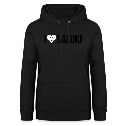 I Love Saluki - Felpa con cappuccio da donna