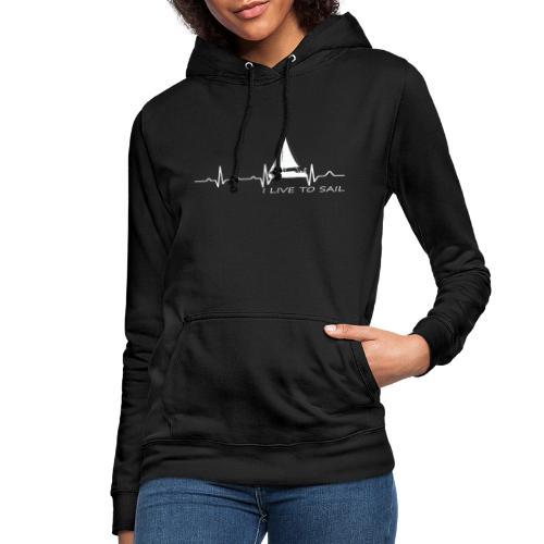 barca vela cuore military dna - Felpa con cappuccio da donna