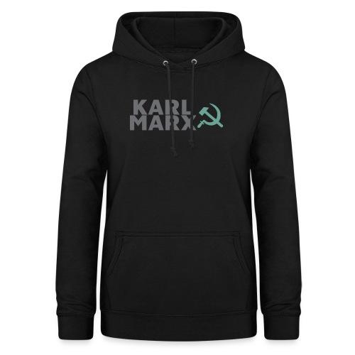 Karl Marx Logo - Felpa con cappuccio da donna