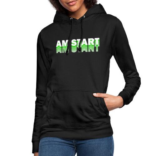 am Start - grün weiß faded - Frauen Hoodie