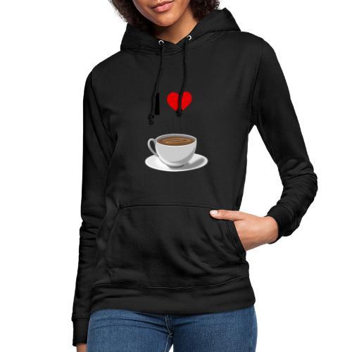I LOVE Coffe - Frauen Hoodie