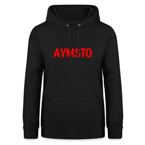 Aymsto/Rouge/Log - Sweat à capuche Femme
