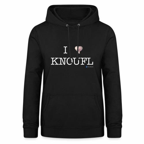 i love knoufl white - Frauen Hoodie