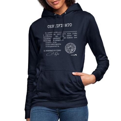 1.07 Certificato Piu Generico B (Aggiungi nome) - Felpa con cappuccio da donna