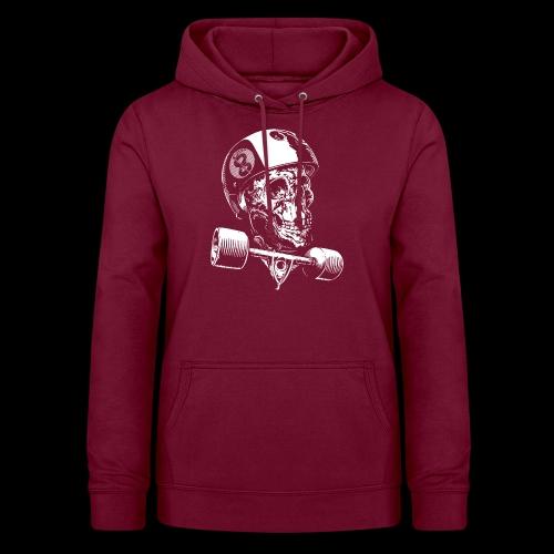 Skull Longboard Rider - negative print - Sweat à capuche Femme