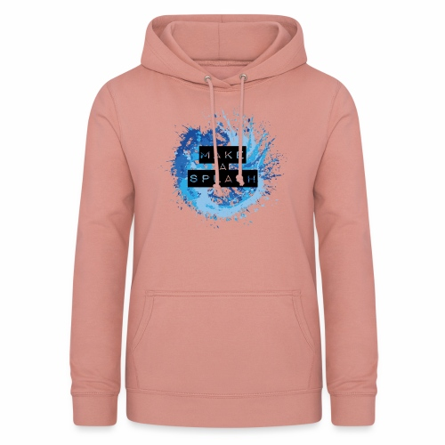 Make a Splash - Aquarell Design in Blau - Frauen Hoodie