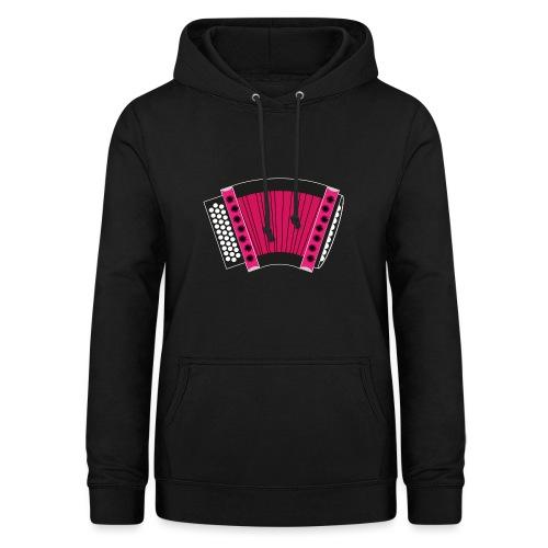 Schwyzerörgeli pink schwarzer Hintergrund - Frauen Hoodie