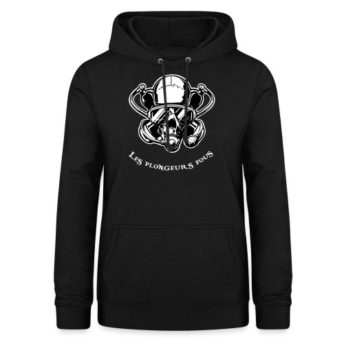 Skull diver white double face - Sweat à capuche Femme
