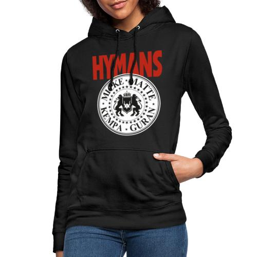 Hymans Red White Black logo - Luvtröja dam
