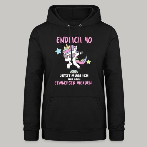 30 Geburtstag Geschenk Frau lustig Einhorn Unicorn - Frauen Hoodie