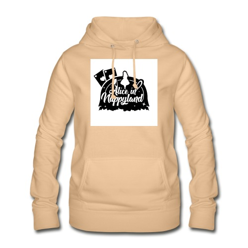 Alice in Nappyland TypographyWhite with background - Women's Hoodie