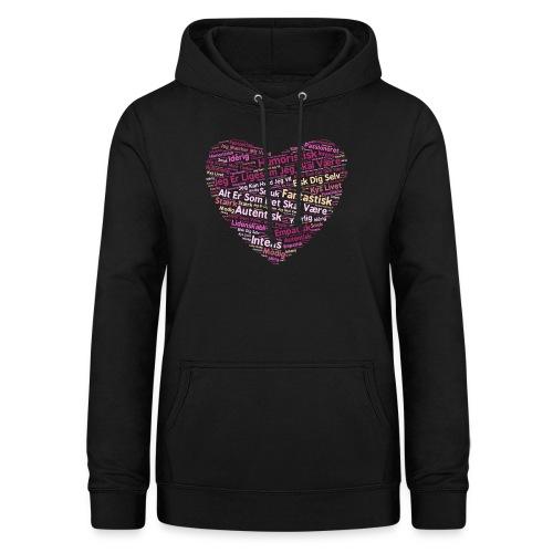 Hjerte - Dame hoodie