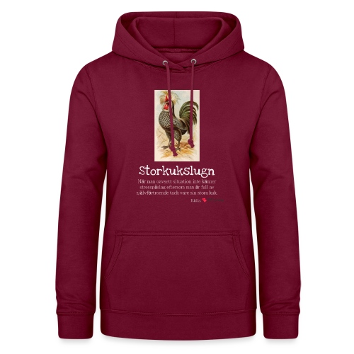 Storkukslugn - Luvtröja dam