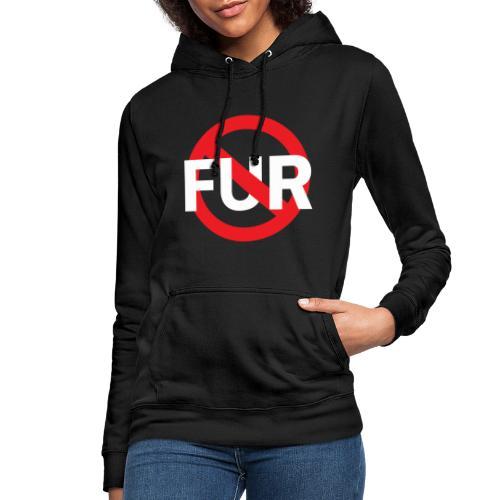 Fuck fur! White - Luvtröja dam
