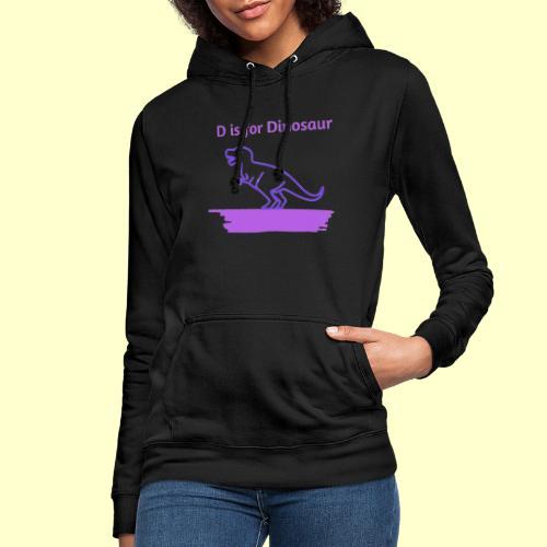 D is for Dinosaur - Sudadera con capucha para mujer