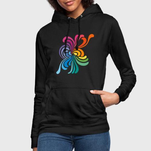 Fleurs multicolore - Sweat à capuche Femme