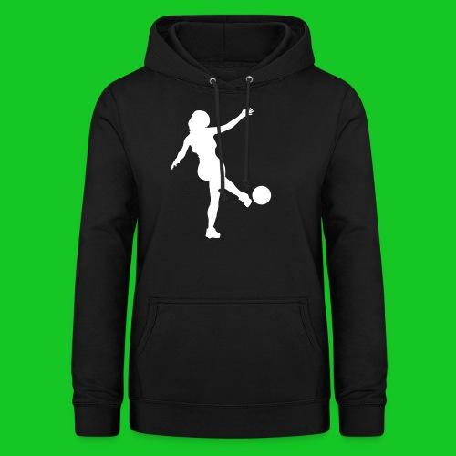 Voetbal vrouw - Vrouwen hoodie