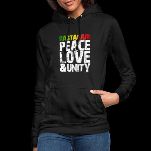RASTAFARI - PEACE LOVE & UNITY - Frauen Hoodie