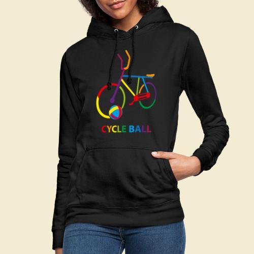 Radball | Cycle Ball Rainbow - Frauen Hoodie