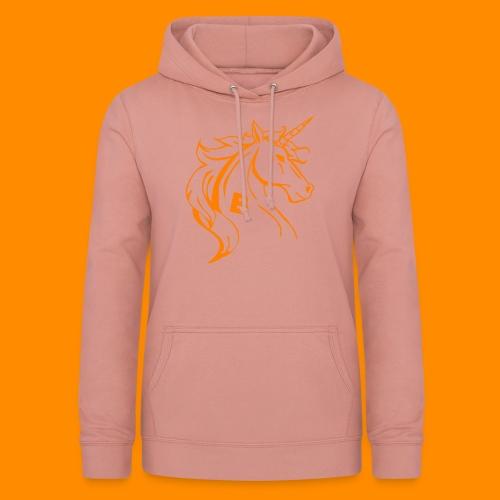 orange biodusty unicorn shirt - Vrouwen hoodie