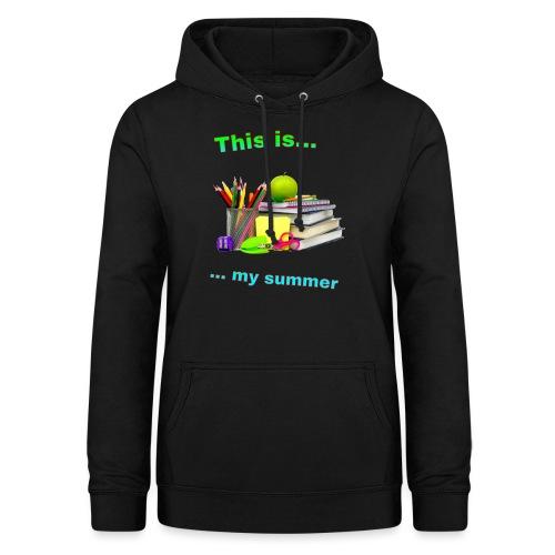 Maglietta esami 2019 - Felpa con cappuccio da donna