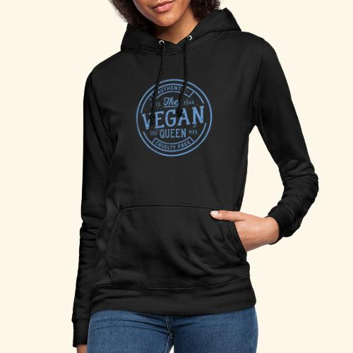 The Vegan Queen - Vintage Stamp Logo - Women's Hoodie