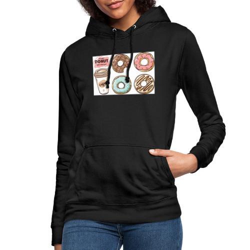 Donut & Coffe - Sudadera con capucha para mujer