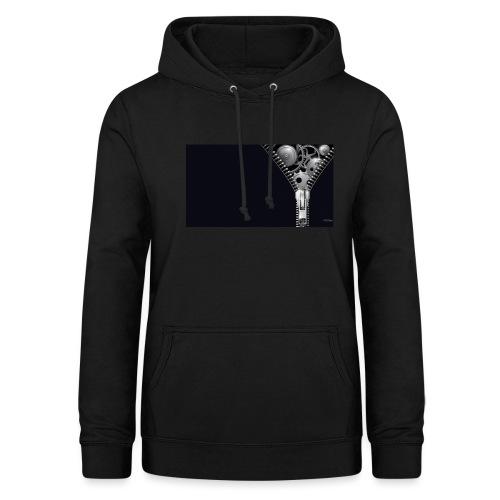 Cierre negro - Sudadera con capucha para mujer