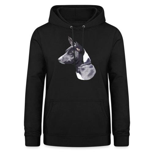 basenji black - Dame hoodie