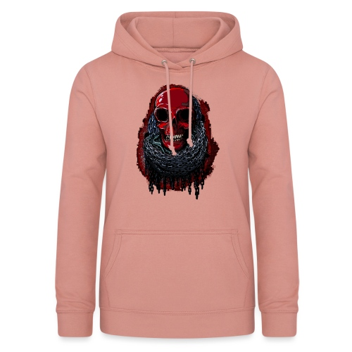 Red Skull in Chains - Women's Hoodie