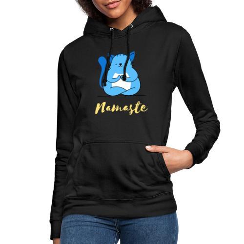 t shirt design creator featuring a cat meditating - Felpa con cappuccio da donna
