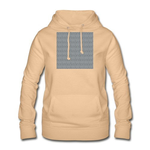 helsinki railway station pattern gray - Women's Hoodie