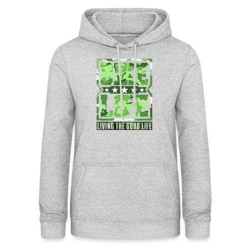Bikelife Green Camo - Women's Hoodie