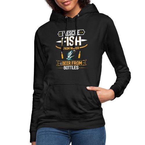Angeln und Bier trinken Lebensstil - Frauen Hoodie