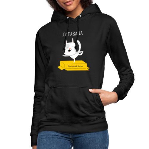 illustrated t shirt design CATASANA - Felpa con cappuccio da donna