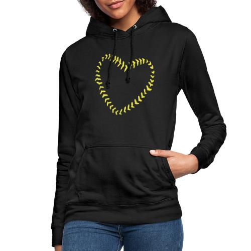 2581172 1029128891 Baseball Heart Of Seams - Women's Hoodie
