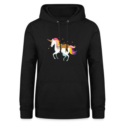 Funny Sloth Riding Unicorn - Frauen Hoodie