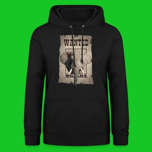 Wanted wildlife Olifant - Vrouwen hoodie