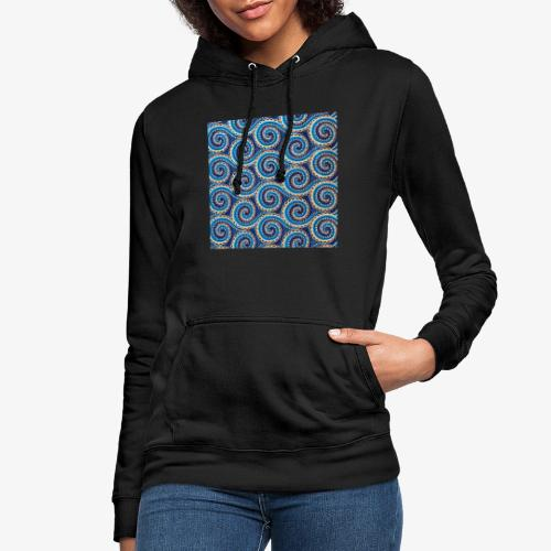 Spirales au motif bleu - Sweat à capuche Femme