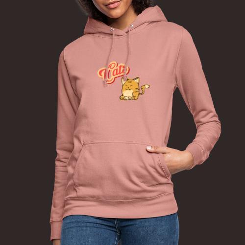 Katze   Katzen süß Schriftzug - Frauen Hoodie