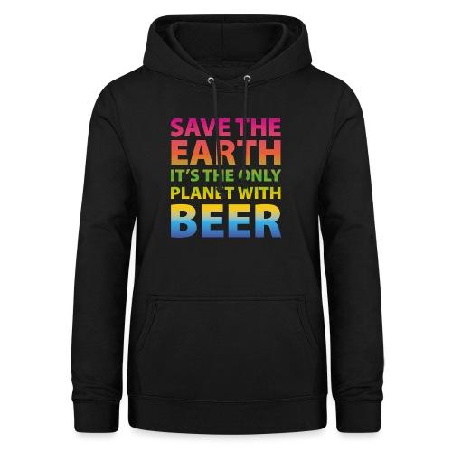 sauver la bière de la terre - Sweat à capuche Femme
