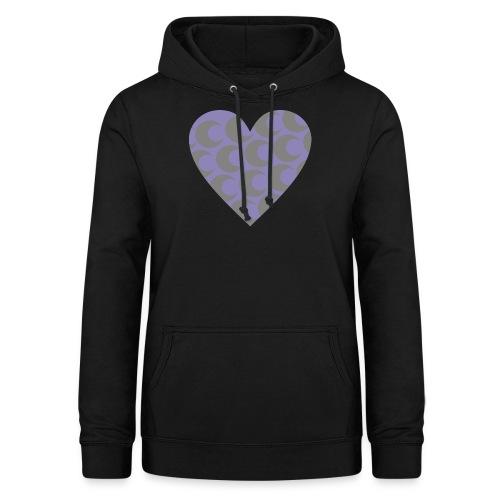 corazon3 - Sudadera con capucha para mujer