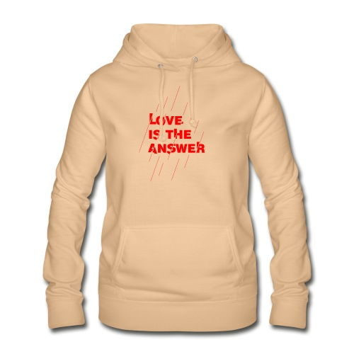 Love is the answer - Felpa con cappuccio da donna