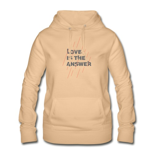 LOVE IS THE ANSWER 2 - Felpa con cappuccio da donna