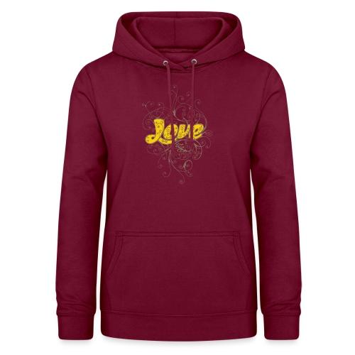 Scritta Love con decorazione - Felpa con cappuccio da donna