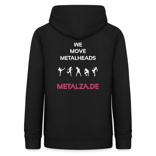 We move Metalheads Rückseite - Frauen Hoodie