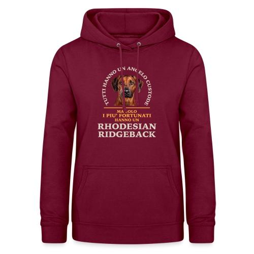 Rhodesian Ridgeback Colori - Felpa con cappuccio da donna