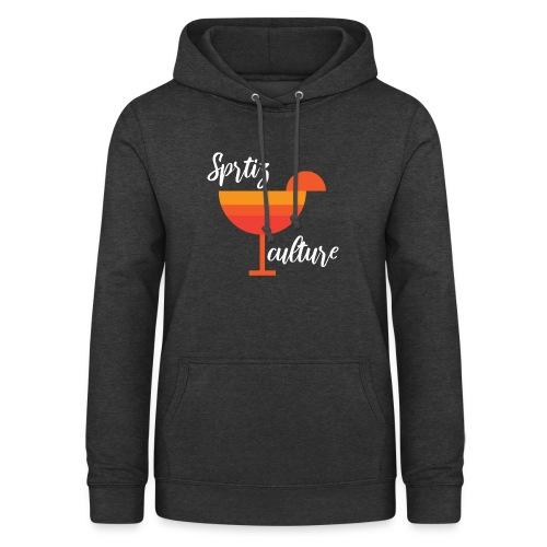 Aperitivo Estate 2020 con fetta di arancia - Felpa con cappuccio da donna